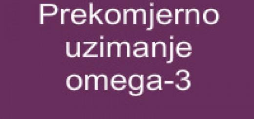 Prekomjerno uzimanje omega-3