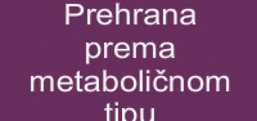 Prehrana prema metaboličnom tipu
