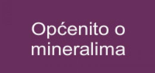 Općenito o mineralima