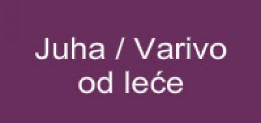 Juha-Varivo od leće