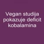 Vegan studija pokazuje deficit kobalamina